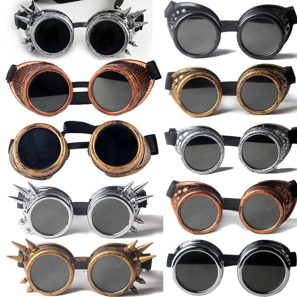 Cosplay Vintage Victorian Rivet Gothic Steampunk Unisex Cool Men Women Welding Goggles Cosplay Vintage Glasses Eyewear