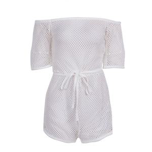 Hollow Out Mesh Romper
