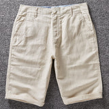 Men's Casual Linen Bermuda Shorts