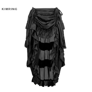 c537cec39 Kimring Vintage Women Steampunk Brown Skirt Victorian High Waist Skirts  with Corset Sexy Gothic Style Halloween