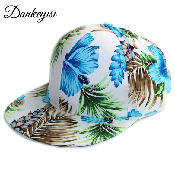 DANKEYISI Hip-hop Baseball Cap Women Snapback Hat Floral Hats Female Casual Adjustable Lady Sport Sun Caps Drop Shipping