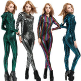 Jumpsuit Holographic Metallic Catsuit