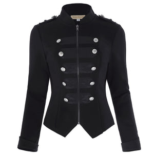 Women's Military Zipped Jacket (4 Colors)