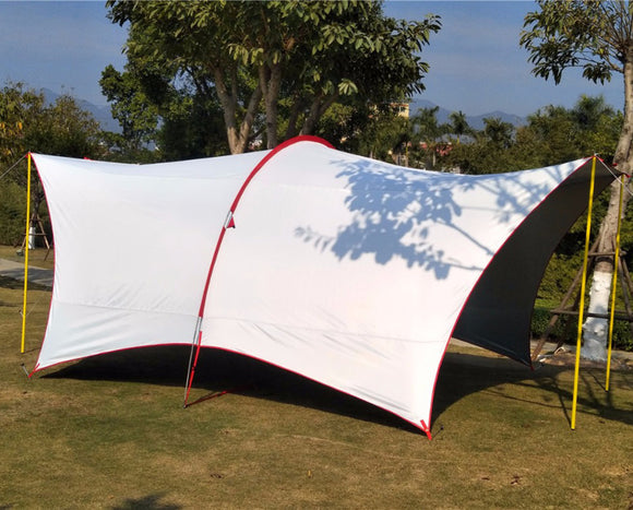 Ultralarge 5-8 Person Use Anti-UV Waterproof Camping Tent Large Gazebo Sun Shelter Large Awning Beach Tent