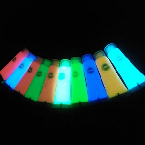 Mixed Florescent Glow in the Dark Body Paint (9 pcs set)