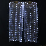 Belly Dance LED Fans Accessories Colorful Light up LED Fans Shiny Women LED white light 1 pair(can make colors)