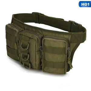 Outdoor Travel Military Tactical Waist Bag Women Men Safe Multifunctional Hiking Camping Camouflage Bag