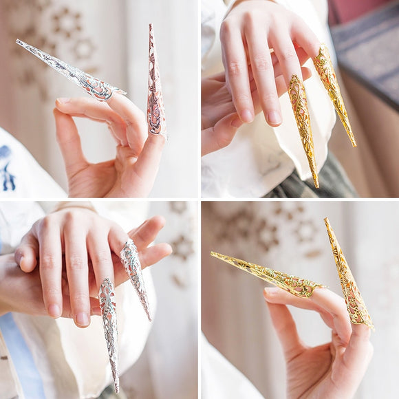 Hanfu Costume accessories queen finger accessories armor ancient Chinese empress finger cots