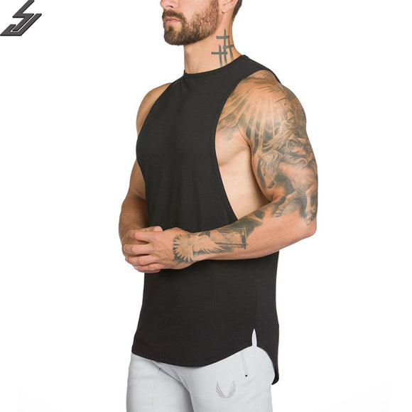 Men's Slit Body Building T-Shirt (5 Colors)