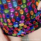 Colorful Jem Stone Tube Top Bodysuit