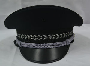Military Uniform Cap (Black/White)