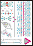Metallic Flash DIY Temporary Body Tattoos (25 Options)