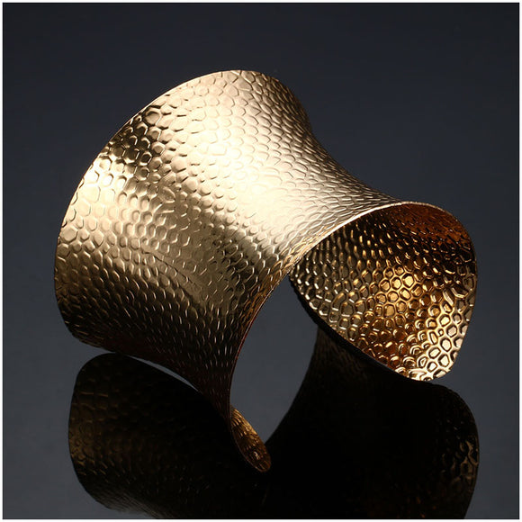 Chic Wing Gold Plated Cuff Bracelet