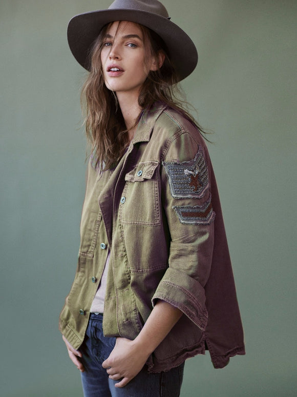 Women's Oversized Military Jacket