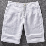 French Style Brand Casual Short Men Summer Linen Shorts Men Cotton Comfortable and breathable Mens Shorts Bermuda masculina Male