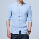 Men's Chinese Flax Shirt
