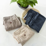 Suehaiwe's brand new style linen shorts men casual striped flax mens shorts 29-38 plus size mens clothing short masculino 3color