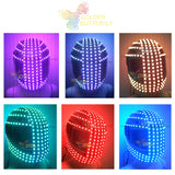 LED helmet Sense future helmet Monochrome/Full color Racing helmets RGB Point source Glowing Party DJ Robot luminous helmet