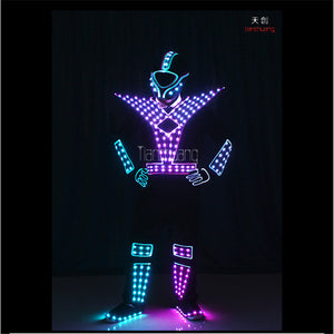 TC-176 Programmable Men led robot costumes dance costumes robot suit full color led light dj clothes luminous stage wears disco