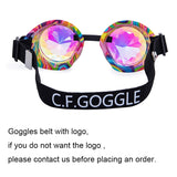 Goggles steampunk glasses Punk Gothic Goggles Cosplay Vintage Rivet Steampunk Goggle kaleidoscope glasses Retro EDM Sunglasses