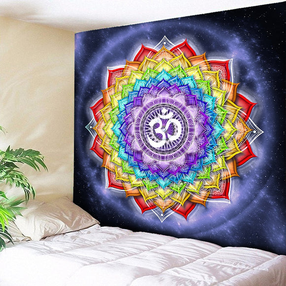 Colorful Wall Hanging Tapestries Indian Mandala Tapestry Hippie Chakra Tapestry Boho Decor Wall Cloth Yoga Mats Bohemian Fabric