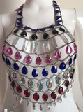 Bejeweled Body Chain Top and Skirt