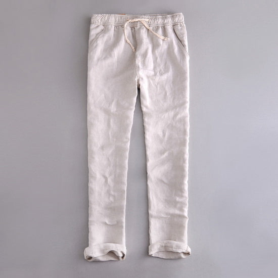 Men's Drawstring Linen Pants (4 Colors)