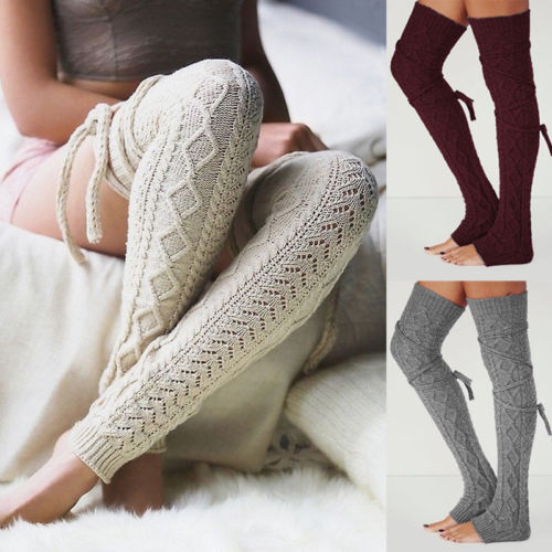 Winter Autumn New Fashion Women Crochet Knitted Stocking Leg Warmers Boot Cover Lace Trim Legging Warm Stocking New Hot