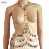Mermaid Sequin and Jewels Body Chain (3 Options)