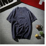Linen Men Shirts Chinese Culture Men's Shirt Slim Short Sleeve Brand 2019 Summer Men Shirts Breathable Asian Plus size M-5XL 6XL
