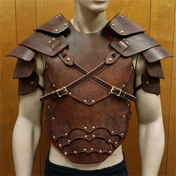 Medieval Rave Leather Tops Men Harness Belts Fetish Men Body Cage Gay Harness Strap Erotic Gay Clothing for BDSM Bondage Sex