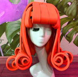 Cartoon Yellow Rubber Curly Head Wig