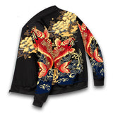 Men's Spring Autumn New Trend Hip-hop Harajuku Style Printed Zipper Long-sleeved Flight Suit Men's Jacket Baseball Uniform 2021