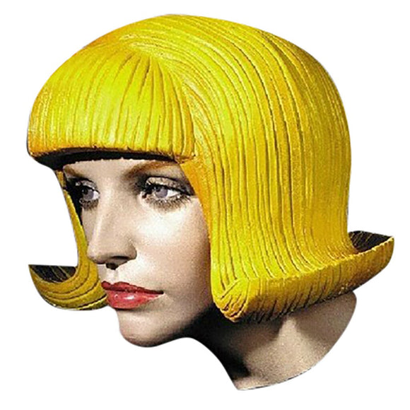 Cartoon Yellow Rubber Head Wig