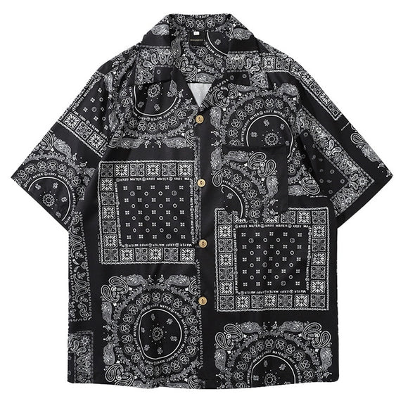 MoneRffi Kimono Style Mens Shirt 2020 Janpanese Style Print Loose Harajuku Shirts Women Men Couple Kimonos Yukata Tops Summer