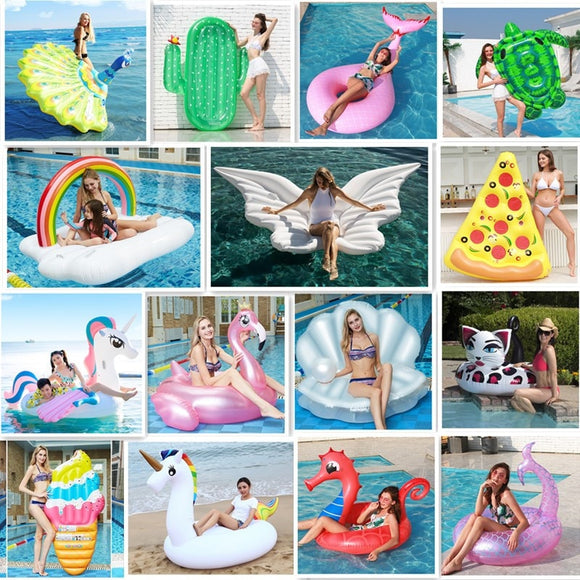 Inflatable Swimming Ring Floating Ring Pool Adult Children Water Exclusive Party Swimming Ring Party Toys