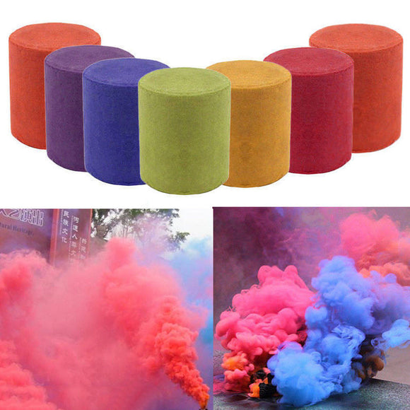 1pcs Colorful Halloween Smoke Cake Spray Smoke Effect Show Halloween Party Stage Studio Photo Props Magic Fog Smokes Cake Gifts