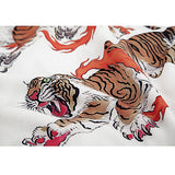 Women's Hawaiian Shirt Tiger Print  Streetwear Short Sleeve V Neck Casual Harajuku Blouse