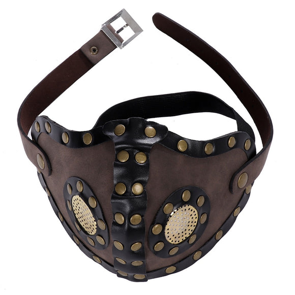 CosDaddy Steampunk Style Mask Halloween Party Cosplay Props Retro Masquerade Mask