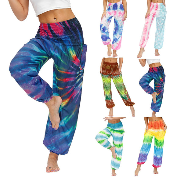 Bohemian Women Men Pants Casual Woman High Waist Thai Harem Trousers Baggy Loose Aladdin 2020 Boho Festival Hippy Smock pants7.9