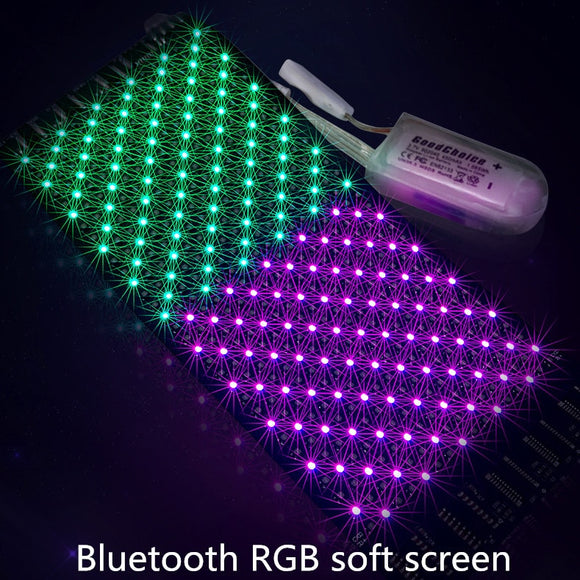 DIY Bluetooth Flexible LED module 16*32pixel Display Matrix screen for LED sun hat bag T-shirt LED face mask display scroll text