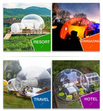 3m Outdoor Camping Inflatable Bubble Tent Large DIY clear House Home Backyard Camping Cabin Lodge Air Bubble Transparent Tent