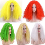 New Exaggerated Screw Wig Explosion Head Long Section Small Volume Corn Hot Wig Bar Female DJ Performance Costume Wig VDB1146