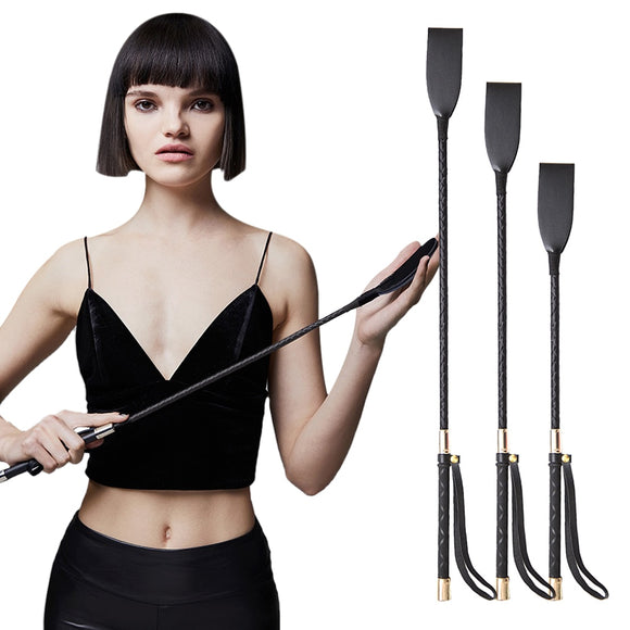 BDSM fantasy Bondage Boutique Slim Leather Riding Crop Whips paddle handle Fetish spank slave submission sex toys for couples