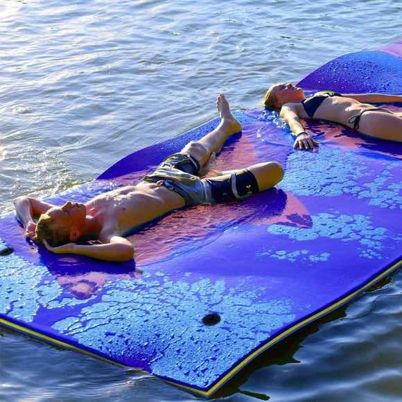 2/3 Layer Anti-tear XPE Foam Floating Pad Durable for Water Entertainment Swimming Pool Picnic