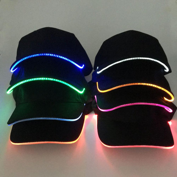 Black Baseball Luminous Hat LED Bill