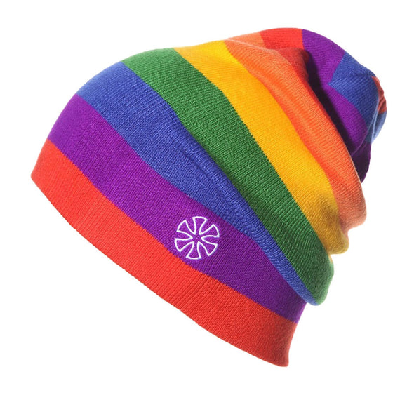 Knitted Winter Hat Rainbow Winter Hat Scarf Ladies Ice Cap Ski Hat Double Knit Warm Ski Hat Gorros Mujer Invierno T2