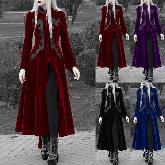 Renaissance Victorian Woman Gothic Jacket Medieval Steampunk Coat Lace Up Bandage Tuxedo Halloween Party Cosplay Costumes