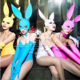 Night club Sexy club dress party gogo dance show fluorescent bunny dj performance outfit Oscar disco dance clothes