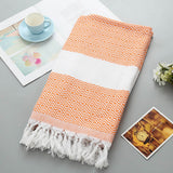 Turkish Bath Towel with Tassel Soft Terry Cloth Beach Towel Bathing Suit Wrap Sarong